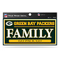 "Green Bay Packers 3""x6"" True Pride Decal - Family"