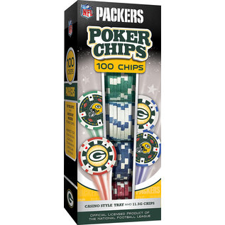 Green Bay Packers 100 pc Poker Chips