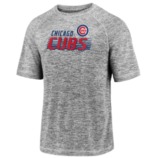 Fanatics Chicago Cubs Men's Iconic Striated Bold Stencil Short Sleeve Tee