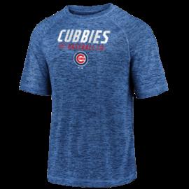 Fanatics Chicago Cubs Men's Iconic Striated Nickname Wordmark Short Sleeve Tee