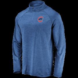Fanatics Chicago Cubs Men's Iconic Striated Primary Logo 1/4 Zip