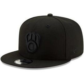 New Era Milwaukee Brewers 9-50 MLB Basic Black Adjustable Snapback