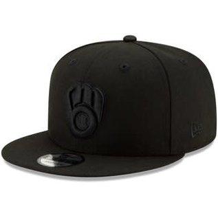 Milwaukee Brewers 9-50 MLB Basic Black Adjustable Snapback