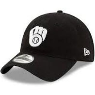 New Era Milwaukee Brewers 9-20 Black Core Classic Adjustable Hat