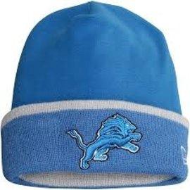New Era Detroit Lions Blue Tech Knit Hat