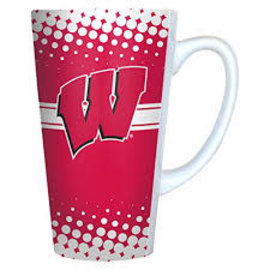Wisconsin Badgers 16oz Latte Mug
