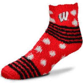 Wisconsin Badgers Women's Homegater Soft Socks OSFA