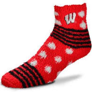 For Bare Feet Wisconsin Badgers Women's Homegater Soft Socks OSFA