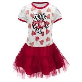 Wisconsin Badgers Youth Love To Dance Tutu Dress