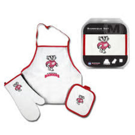 WinCraft, Inc. Wisconsin Badgers BBQ Apron Set