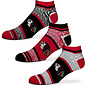 For Bare Feet Chicago Blackhawks Men's Triplex Heathered 3 Pack of Socks Large