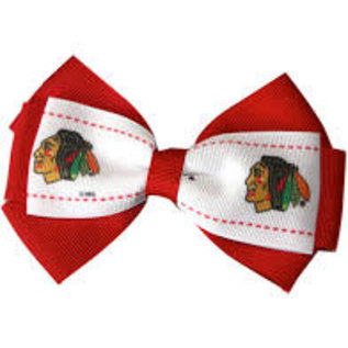 Chicago Blackhawks Bow Hair Clip