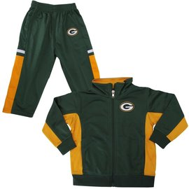 Outerstuff Green Bay Packers Infant Stacked Jacket & Pant set