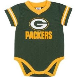 Gerber Childrenswear Green Bay Packers Infant Jersey V-Neck Onesie
