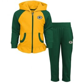 Outerstuff Green Bay Packers Infant Lil Champ Full Zip Hoodie and Pant Set