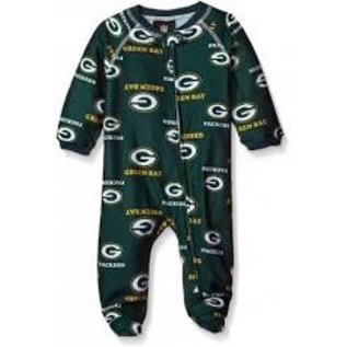 Outerstuff Green Bay Packers Allover Print  Footed Sleeper