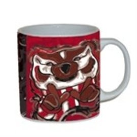 Wisconsin Badgers 11oz Justin Patten Mascot Coffee Cup