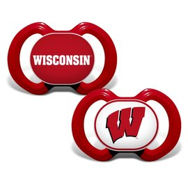 Wisconsin Badgers 2 Pack Pacifiers