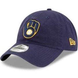 New Era Milwaukee Brewers 9-20 Navy Core Classic Rep Adjustable Hat