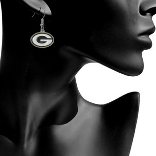 Green Bay Packers G Dangle Earrings