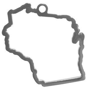 Wisconsin Badgers State Shaped Necklace