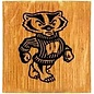 Wisconsin Badgers Barrel Coasters and Holder Set