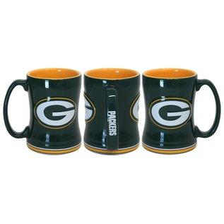 Boelter Brands LLC Green Bay Packers 15 oz Green Sculpted Relief Mug