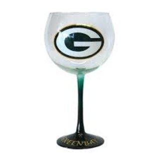 Boelter Brands LLC Green Bay Packers 20oz Hand Painted Wine Glass
