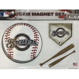 Rico Industries, Inc. Milwaukee Brewers Team Magnet Set
