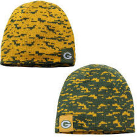 New Era Green Bay Packers Team Interference Knit Reversible Beanie Hat