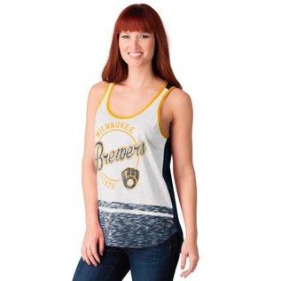 G III Milwaukee Brewers Women's Blowout Tank Top