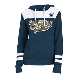 5th &  Ocean Milwaukee Brewers Women's Triblend Fleece Pullover Hoodie