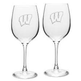Boelter Brands LLC Wisconsin Badgers 12oz Satin Etched Wine Glass