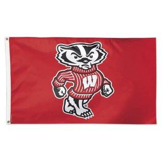 WinCraft, Inc. Wisconsin Badgers Deluxe 3x5 Bucky Flag