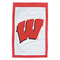 Evergreen Enterprises Wisconsin Badgers Banner Flag - White Background & Red W