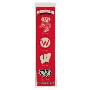 Wisconsin Badgers Heritage Wool Banner