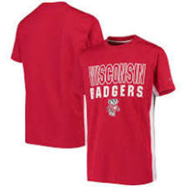 Colosseum Wisconsin Badgers Youth In The Vault Cut and Sew Short Sleeve Tee