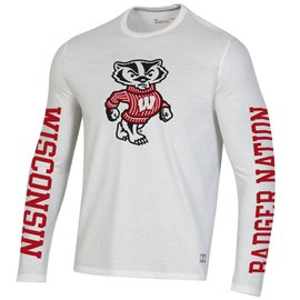 Wisconsin Badgers Men's Gameday Fade Long Sleeve Tee