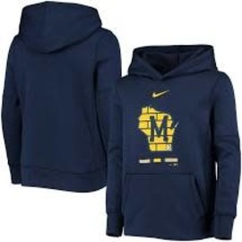Nike Milwaukee Brewers Men's Legacy Therma Hoodie