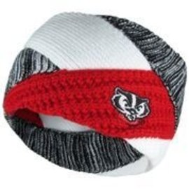 Zoozatz Wisconsin Badgers Criss Cross Headband