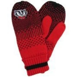 Zoozatz Wisconsin Badgers Women's Fade Mittens