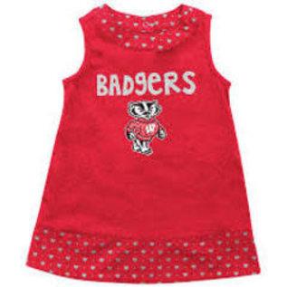 Colosseum Wisconsin Badgers Infant Heart Print Dress