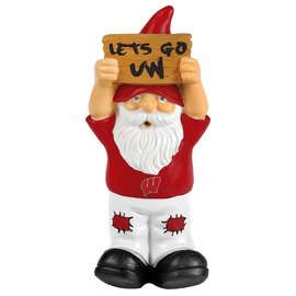 "Wisconsin Badgers Mini Gnome Holding Sign (8"")"