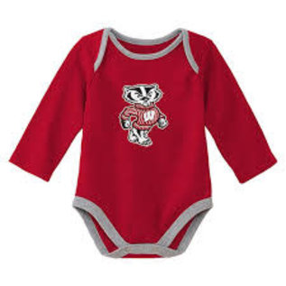 Wisconsin Badgers Youth Trophy Long Sleeved Onesie