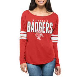 '47 Brand Wisconsin Badgers Women's Courtside Long Sleeve Tee