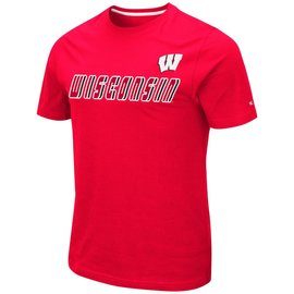 Colosseum Wisconsin Badgers Men's Otto Short Sleeve Tee
