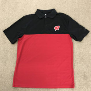 Colosseum Wisconsin Badgers Men's In The Vault Polo Shirt