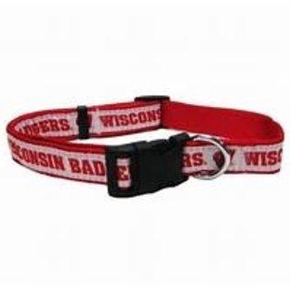 Wisconsin Badgers Dog Collar - Size Medium