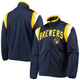 G III Milwaukee Brewers Men's Post Up Track Jacket
