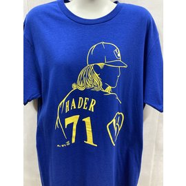 "Fanatics Milwaukee Brewers Men's Hader ""Haderade"" Name and Number Short Sleeve Tee"